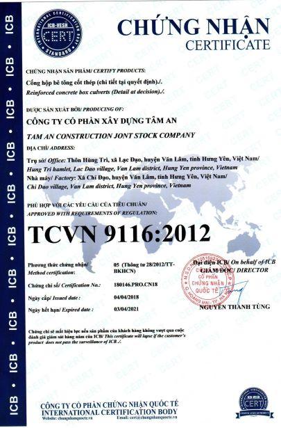 TCVN 9116-2012 Cống hộp
